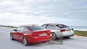 BMW Vierer Gran Coupé, Audi A5 Sportback, Heckansicht