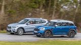 BMW X1 18d sDrive, Mini Countryman Cooper D, Seitenansicht