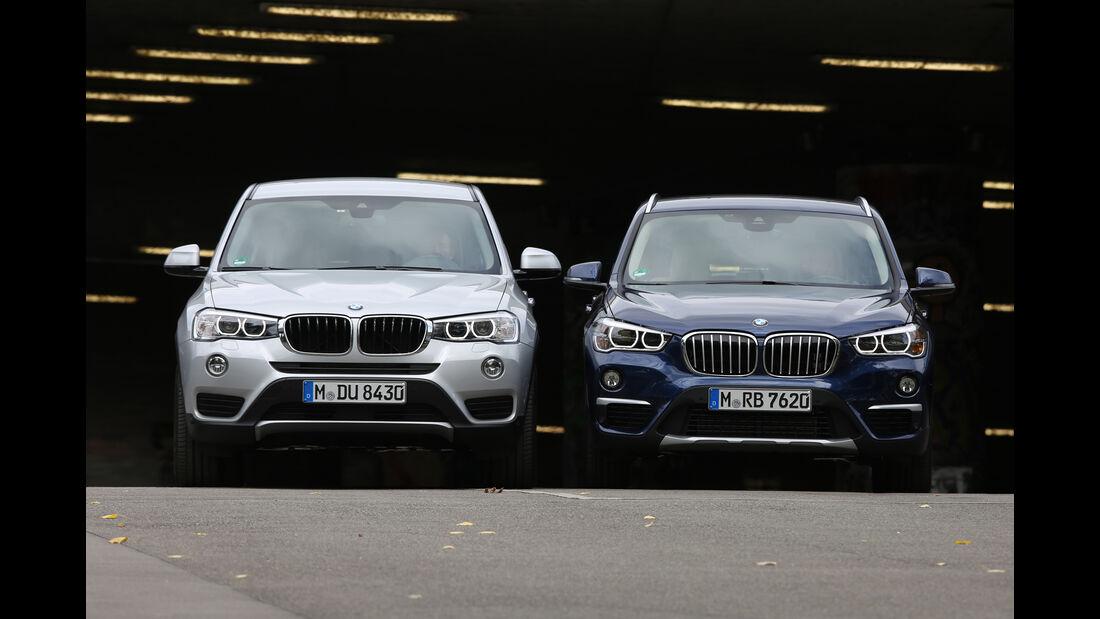 BMW X1 20d xDrive, BMW X3 20d xDrive, Frontansicht