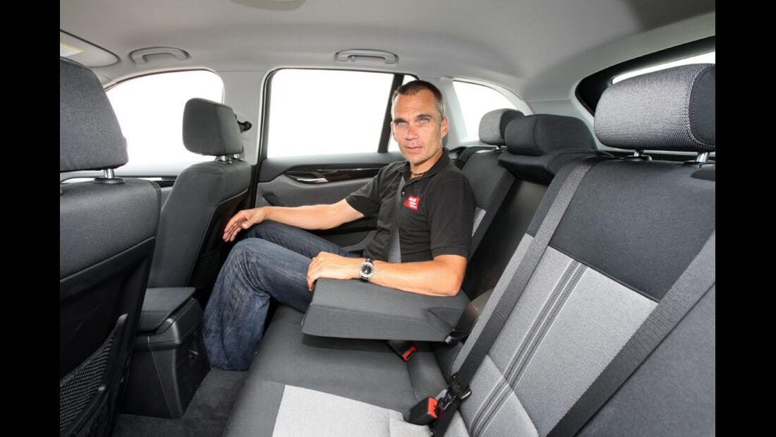 BMW X1, Innenraum, Fond, Rückbank