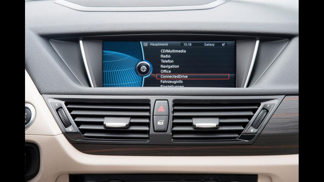 BMW X1, Lüfter, Bildschirm