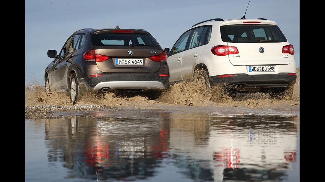 BMW X1 18d vs VW Tiguan 2.0 TDI im Test: Kompakt-SUV ohne ...