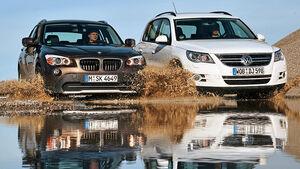 BMW X1 s-Drive 18d, VW Tiguan 2.0 TDI CR Trend & Fun