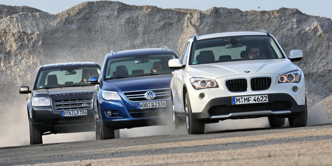 BMW X1 xDrive 20d, Land Rover Freelander TD4 E, VW Tiguan 2.0 TDI CR 4Motion Sport & Style