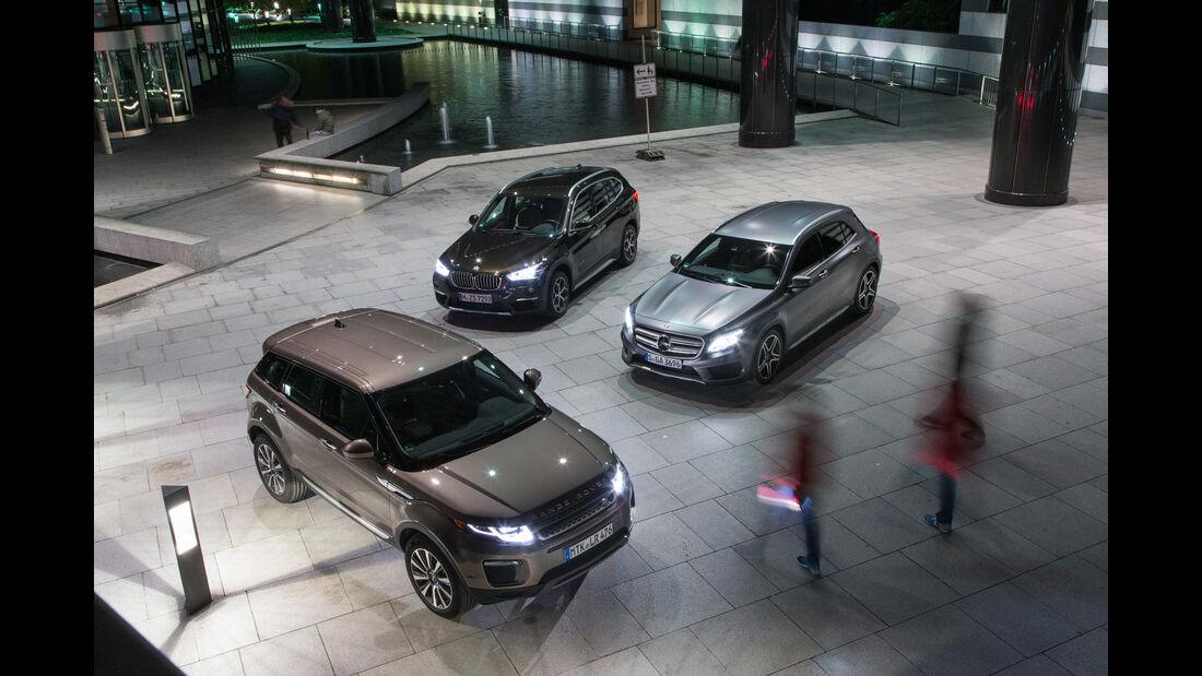 BMW X1 xDrive 20d, Range Rover Evoque TD4, Mercedes GLA 220 d 4Matic