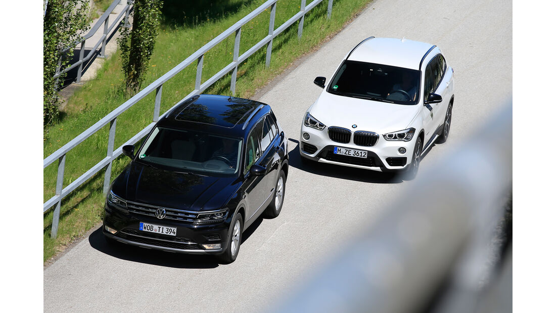 BMW X1 xDrive 20d, VW Tiguan 2.0 TDI 4Motion,