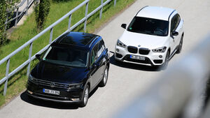 BMW X1 xDrive 20d, VW Tiguan 2.0 TDI 4Motion,