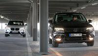 BMW X1 xDrive 20d, VW Tiguan 2.0 TDI 4Motion, Frontansicht