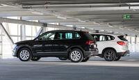 BMW X1 xDrive 20d, VW Tiguan 2.0 TDI 4Motion, Seitenansicht