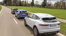 BMW X1 xDrive 25d, Jaguar E-Pace D240, VW Tiguan 2.0 TDI, Exterieur
