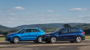 BMW X1 xDrive 25i, Audi Q3 2.0 TFSI Quattro, Seitenansicht