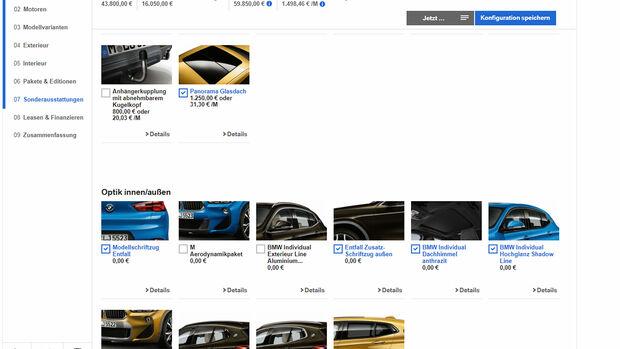 BMW X2 Konfigurator