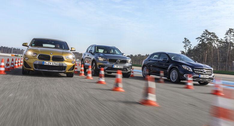 BMW X2 xDrive 20d, Mercedes GLA 220 d 4Matic, Volvo XC40 AWD, Exterieur