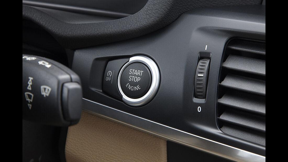 BMW X3 2010, Facelift, SUV, Cockpit, Startknopf