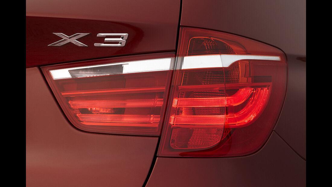 BMW X3 2010, Facelift, SUV, Rückleuchte