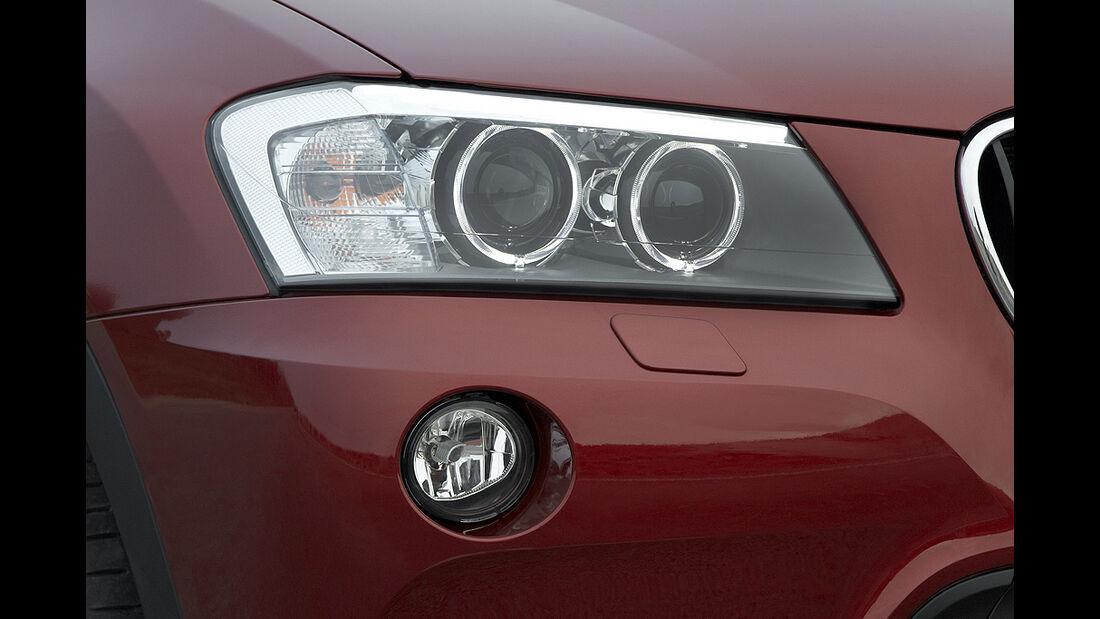 BMW X3 2010, Facelift, SUV, Scheinwerfer