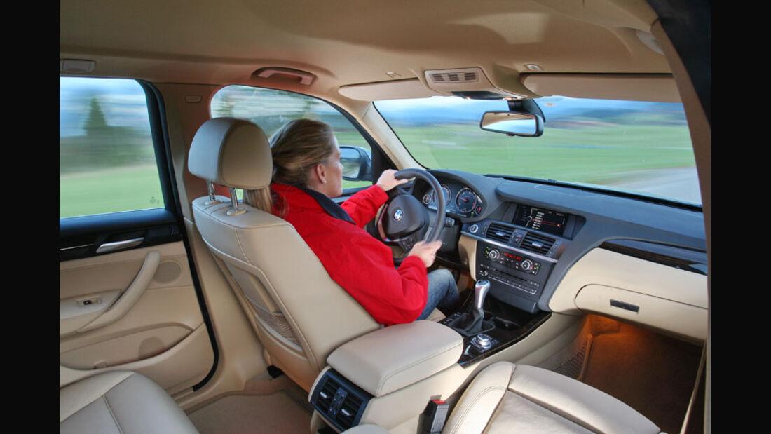 BMW X3 20d, Innenraum, Cockpit