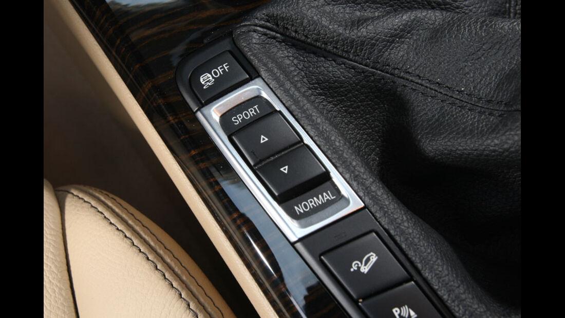 BMW X3 20d, Mittelkonsole, Fahrwerkseinstellungen