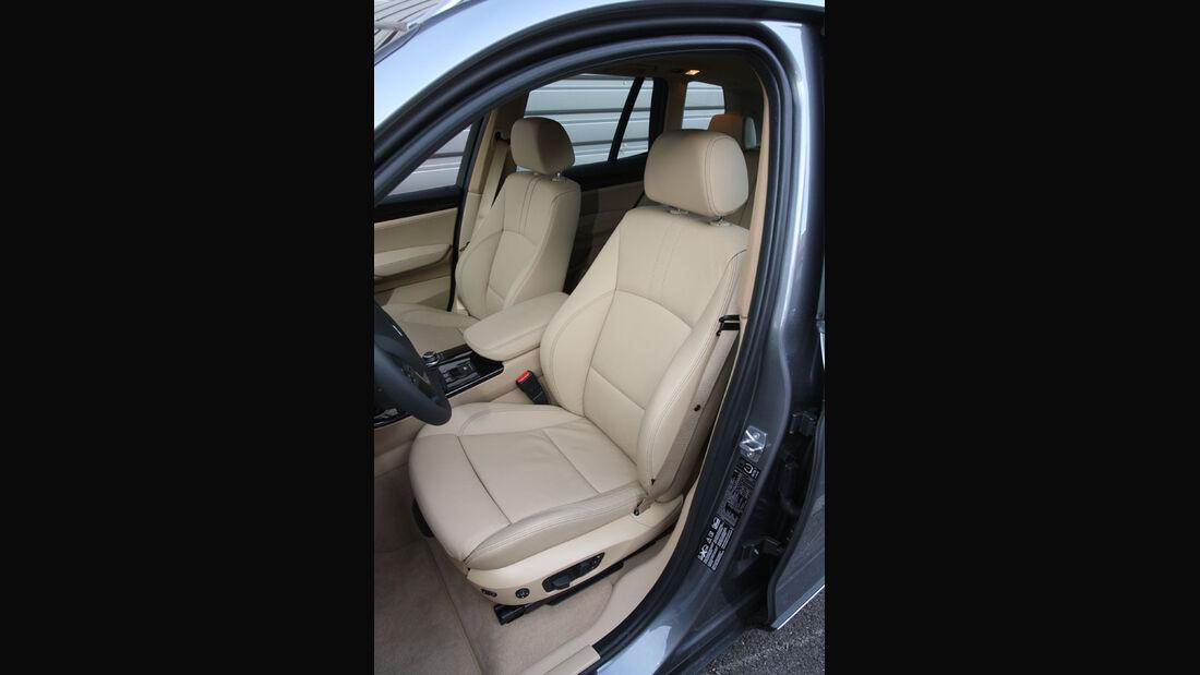 BMW X3 20d, Sitze
