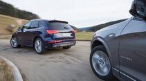 BMW X3 35d x-Drive, Audi SQ5 3.0 TDI, Heckansicht