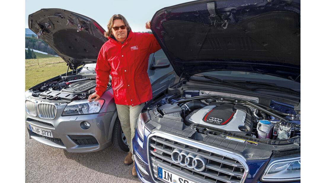 BMW X3 35d x-Drive, Audi SQ5 3.0 TDI, Heinrich Linger