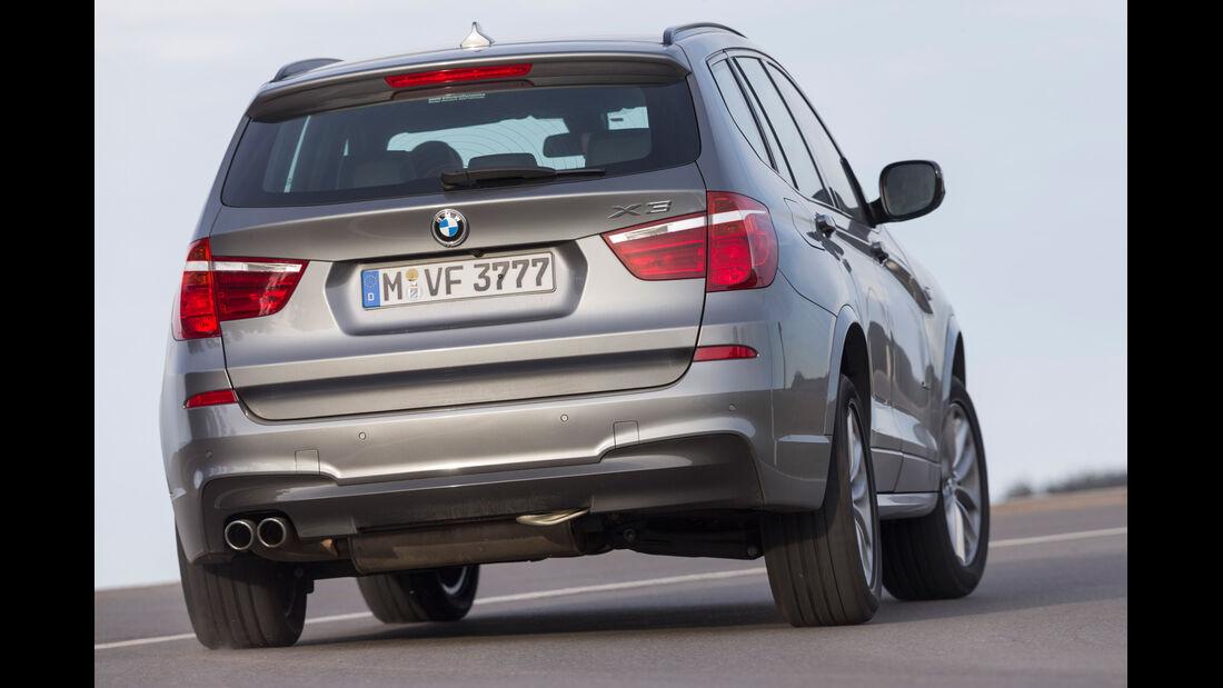 BMW X3 35d x-Drive, Heckansicht