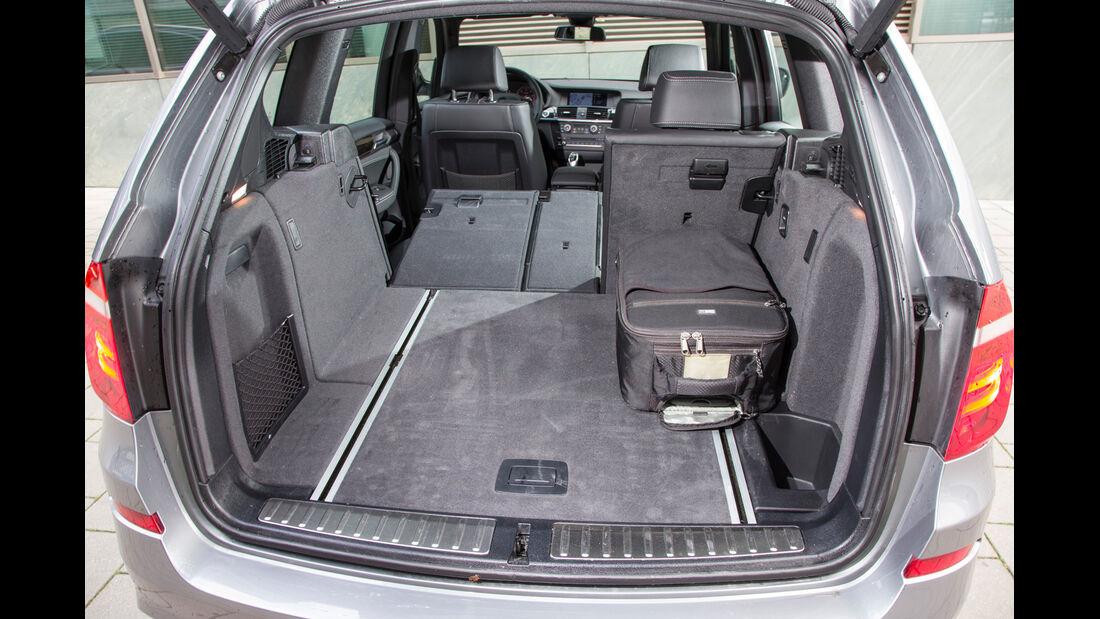 BMW X3 35d x-Drive, Kofferraum, Ladefläche