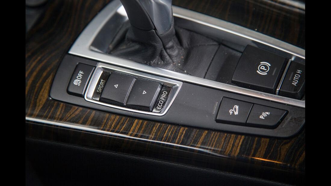 BMW X3 35d x-Drive, Schaltknauf, Bedienelemente