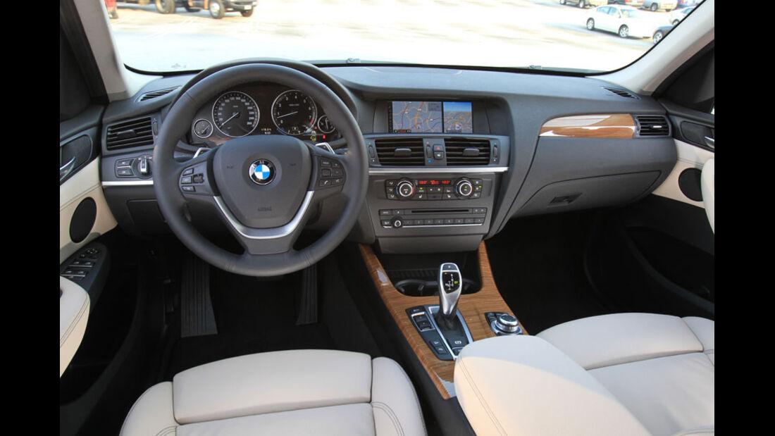 BMW X3, Cockpit, Innenraum
