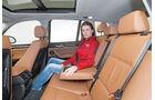 BMW X3, Fondsitz, Beinfreiheit