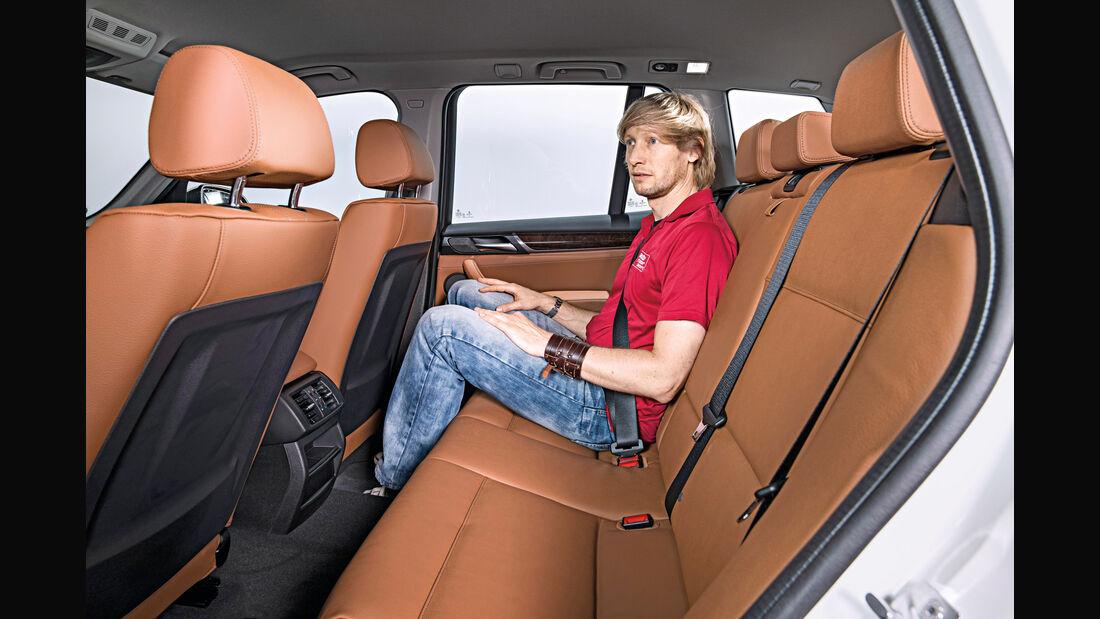 BMW X3, Fondsitze, Beinfreiheit