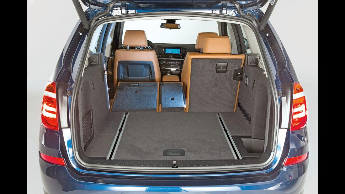 BMW X3, Ladefläche, Kofferraum
