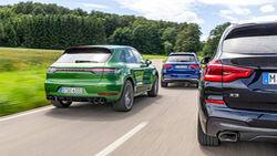 BMW X3 M40i, Mercedes AMG GLC 43 4Matic, Porsche Macan GTS, Exterieur
