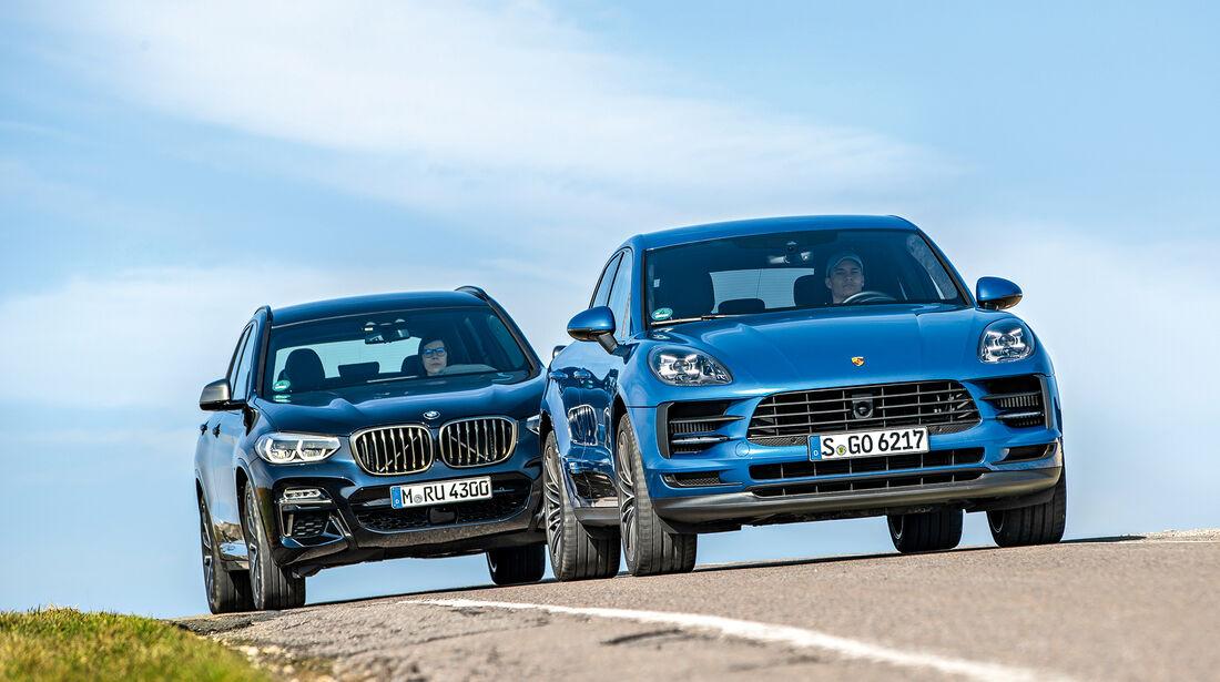 BMW X3 M40i, Porsche Macan S, Exterieur
