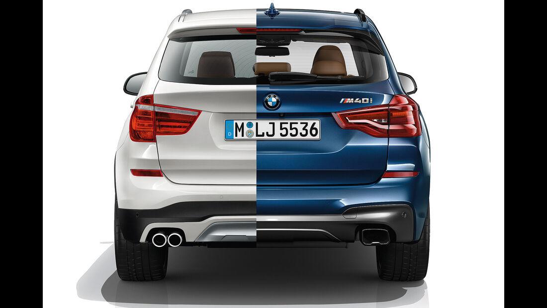 BMW_X3 _M40i _xDrive _2017_Vergleich_alt_neu