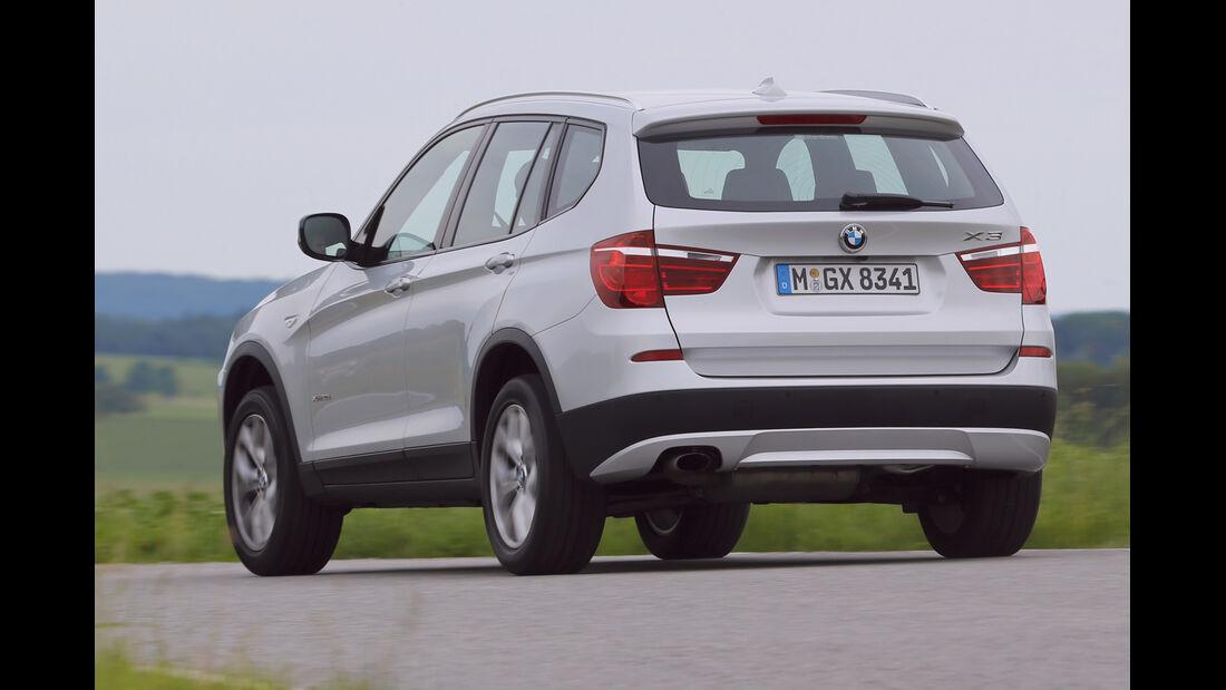 BMW X3 S-Drive 18d, Heckansicht