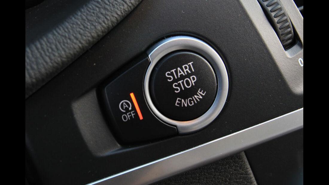 BMW X3, Startknopf, Start-Stopp