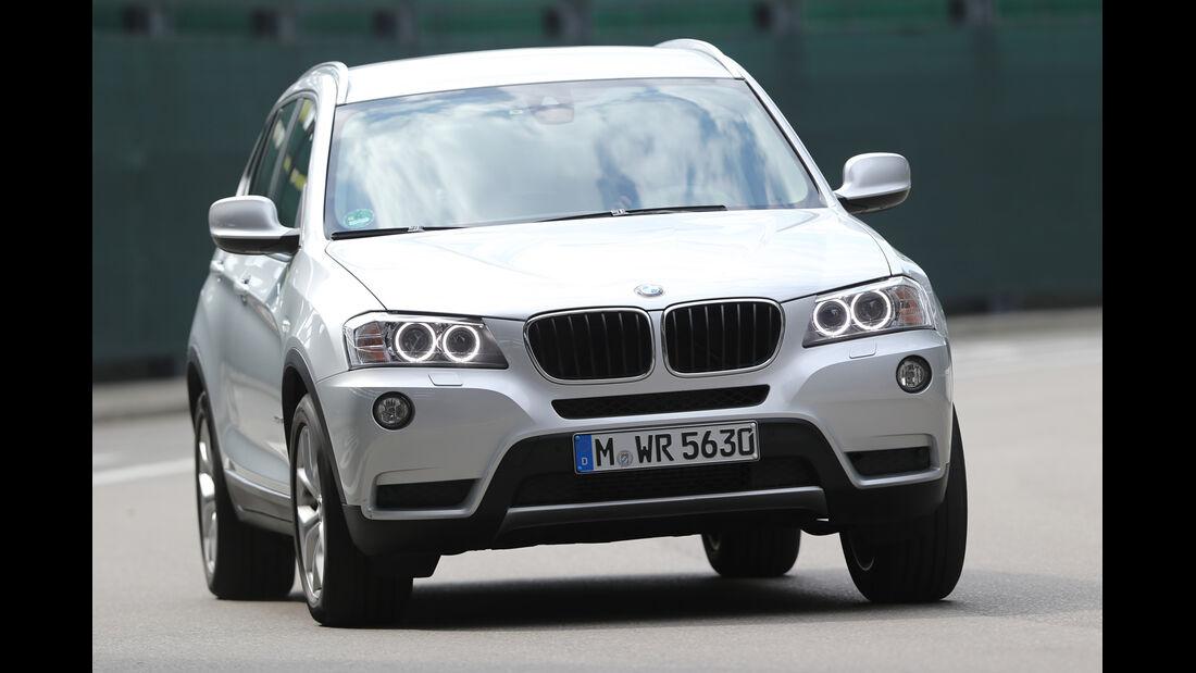 BMW X3 s-Drive 18d, Frontansicht