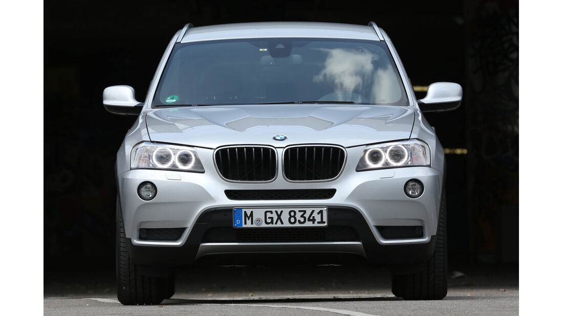 BMW X3 x-Drive 20d, Frontansicht