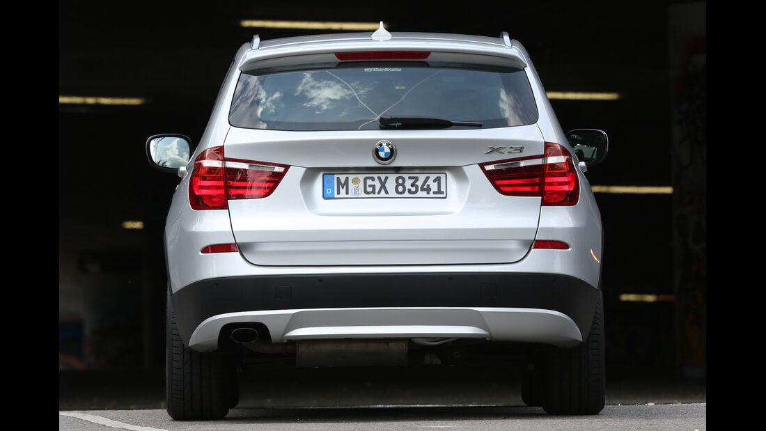 BMW X3 x-Drive 20d, Heckansicht