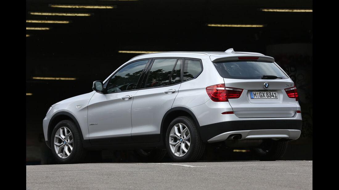 BMW X3 x-Drive 20d, Seitenansicht