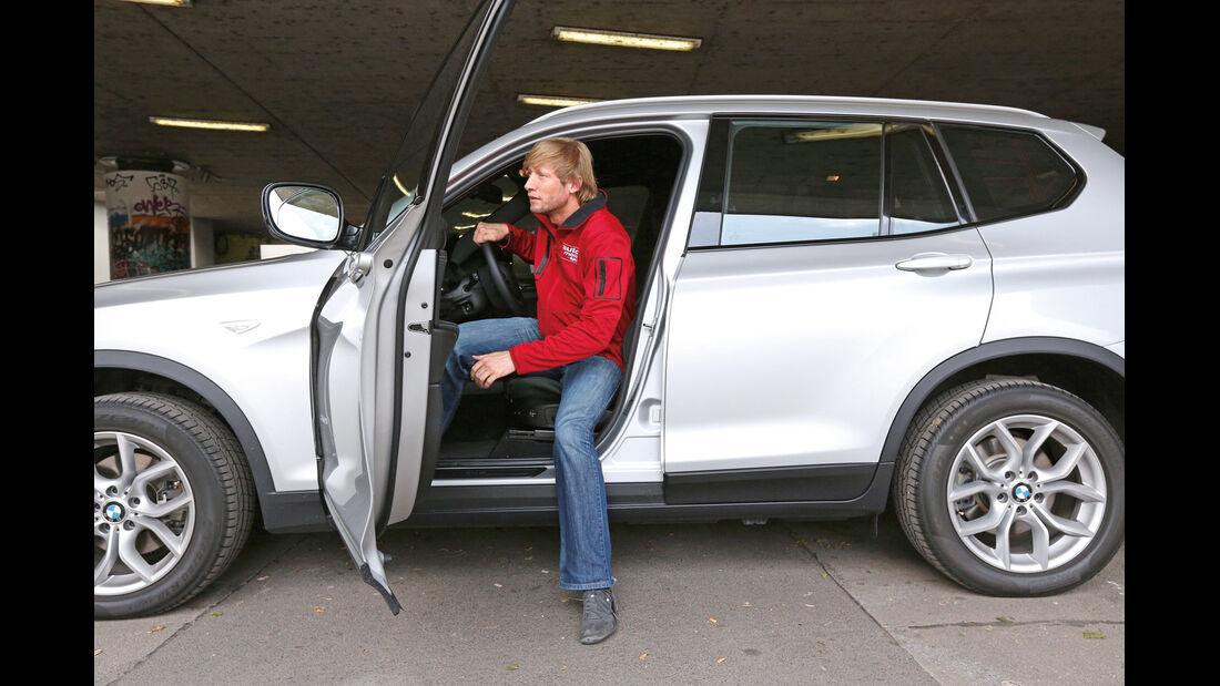BMW X3 x-Drive 20d, Seitentür, Aussteigen