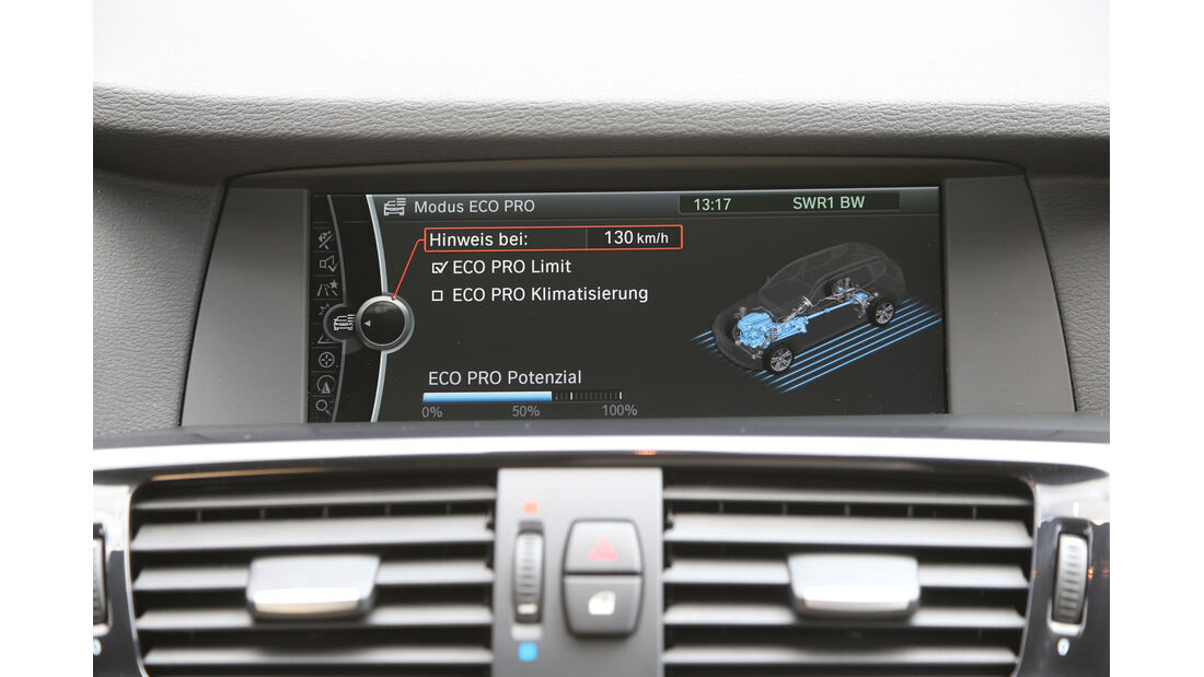 BMW X3 x-Drive 28i, Bildschirm, Anzeige, Monitor
