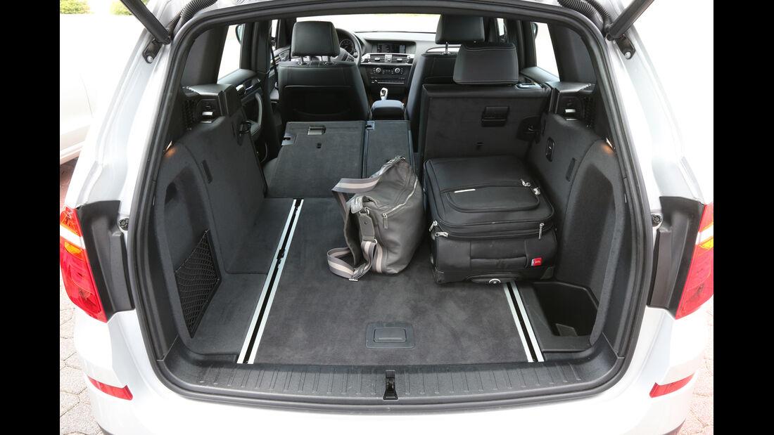 BMW X3 x-Drive 28i, Kofferraum, Ladefläche