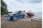 BMW X3 x-Drive 30d, Front, Anhänger, Boot
