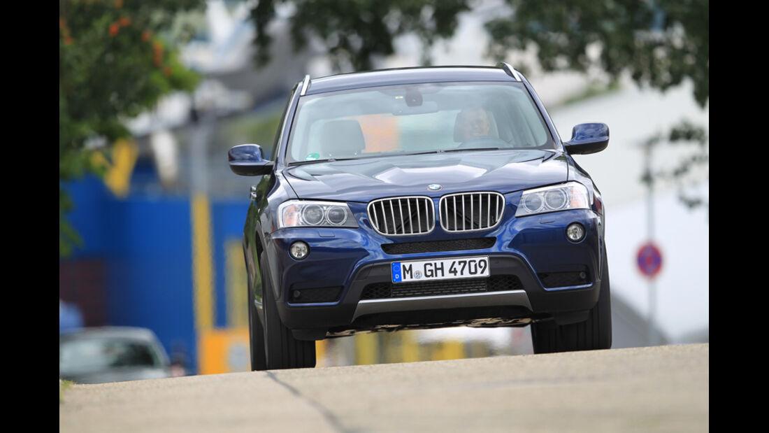BMW X3 x-Drive 30d, Front, Frontansicht
