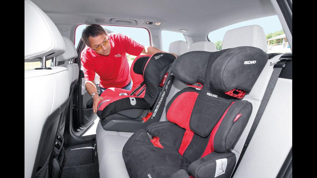 BMW X3 x-Drive 30d, Kindersitze, Rücksitze