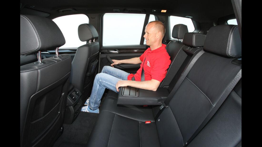 BMW X3 x-Drive 30d, Rücksitz, Armlehne, Innenraum