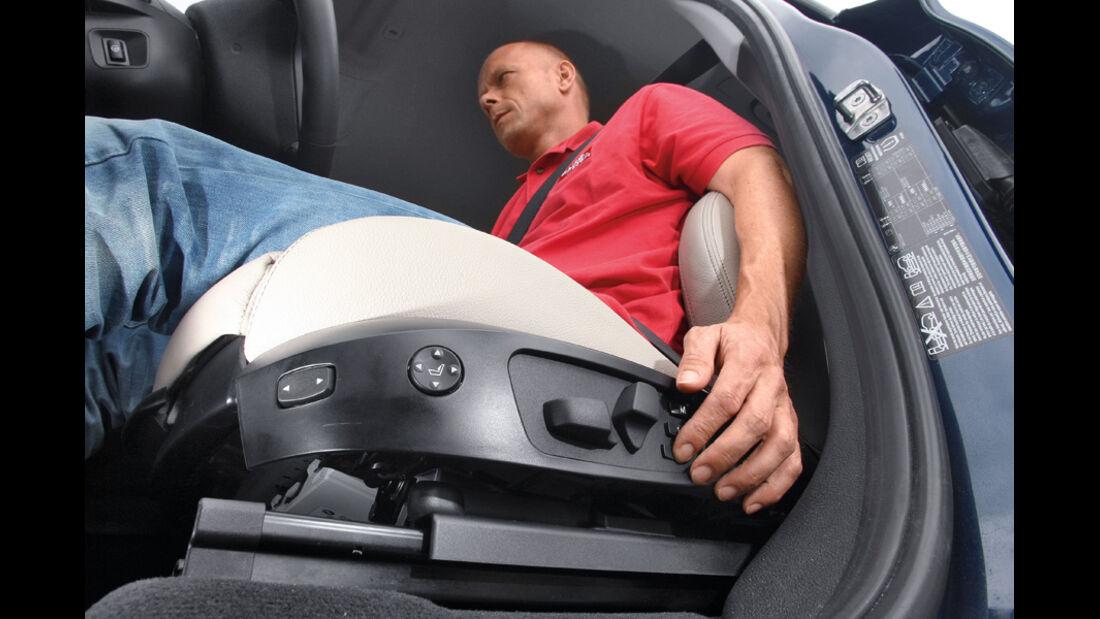 BMW X3 x-Drive 30d, Sitz, Hebel