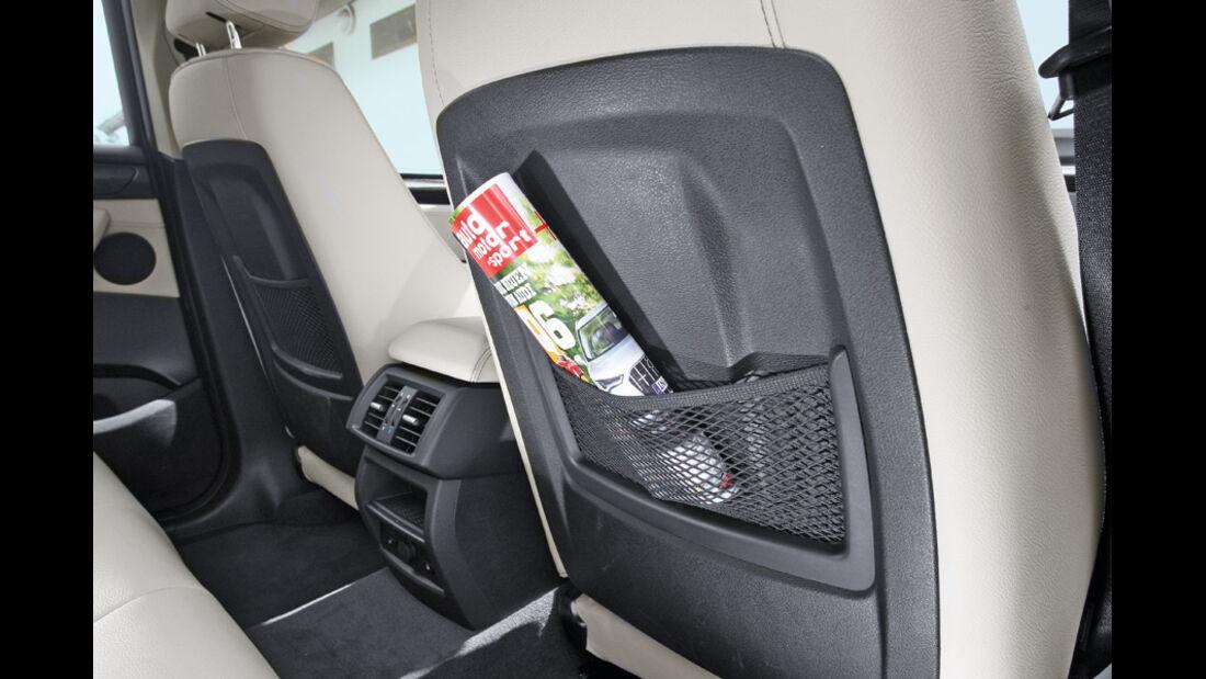 BMW X3 x-Drive 30d, Zeitung, Ablagefach, Netz